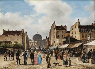 Paris Rue Saint-nicaise Art Print by Celestial Images