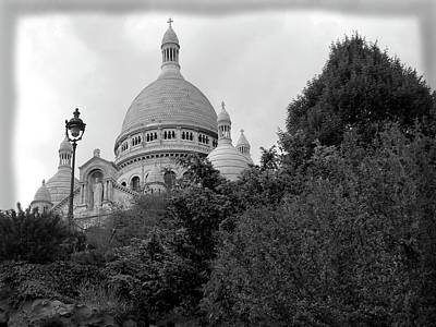 Paris Skyline Royalty-Free and Rights-Managed Images - Paris - Sacre Coeur Basilicia by Scott Carda
