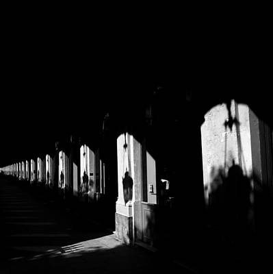 Photograph - Paris Shadows 2b by Andrew Fare
