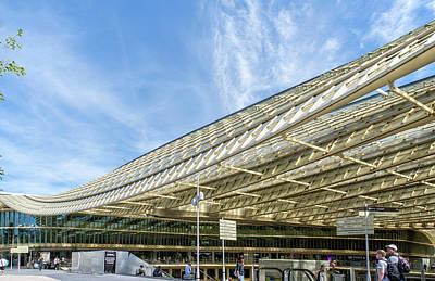 Digital Art - Paris Shopping Center Forum Des Halles by Carol Ailles