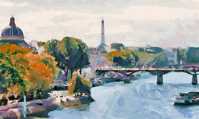 Digital Art - Paris Sightseeing by Yury Malkov