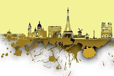 Skyline Digital Art - Paris Skyline .2 by Alberto RuiZ
