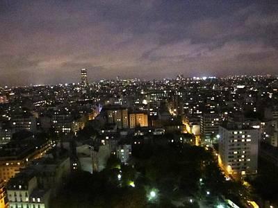 Photograph - Paris Skyline At Night France by John Shiron