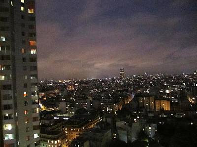 Paris Skyline At Night II France Art Print