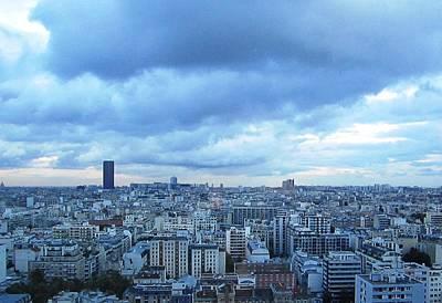 Photograph - Paris Skyline At Sunset France by John Shiron