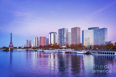 Paris Skyline Royalty-Free and Rights-Managed Images - Paris skyline by Delphimages Photo Creations