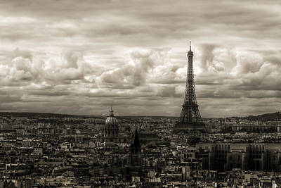 Paris Skyline Photograph - Paris Skyline by Hsin Liu