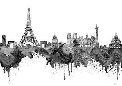 Paris Skyline Royalty-Free and Rights-Managed Images - Paris Skyline Italy 13 by Prar Kulasekara