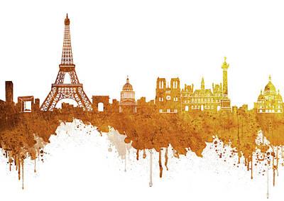 Paris Skyline Royalty-Free and Rights-Managed Images - Paris Skyline Italy 3 by Prar Kulasekara