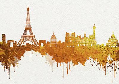 Paris Skyline Royalty-Free and Rights-Managed Images - Paris Skyline Italy 4 by Prar Kulasekara