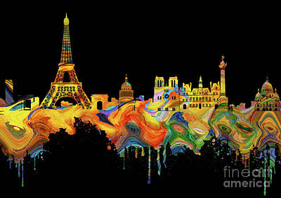 Paris Skyline Royalty-Free and Rights-Managed Images - Paris Skyline Italy 5 by Prar Kulasekara