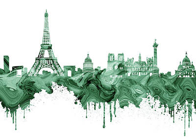 Paris Skyline Royalty-Free and Rights-Managed Images - Paris Skyline Italy 8 by Prar Kulasekara