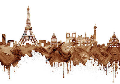 Paris Skyline Royalty-Free and Rights-Managed Images - Paris Skyline Italy 9 by Prar Kulasekara