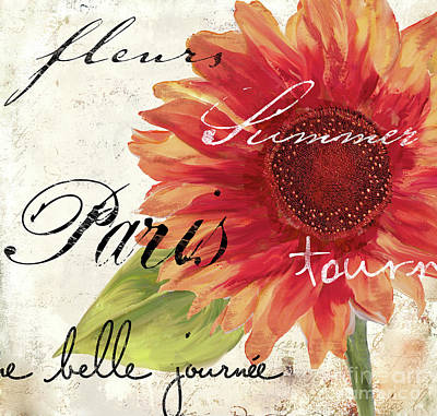 Sunflower Painting - Paris Songs II by Mindy Sommers