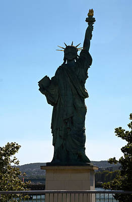 Statue Of Liberty Replica Photograph - Paris Statue Of Liberty by Sally Weigand
