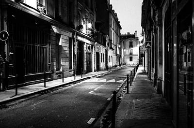 Photograph - Paris Street At Night by M G Whittingham