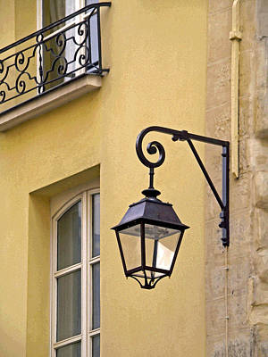Photograph - Paris Street Lamp by Jean Hall
