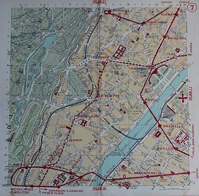 Paris Map Photographs Page Of Fine Art America - Modern map of paris