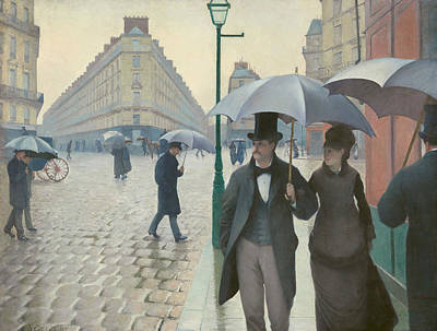 Painting - Paris Street, Rainy Day  by Gustave Caillebotte
