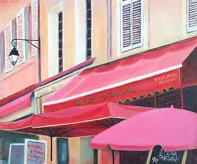 Paris Street Scene - Bar De L'horloge Original