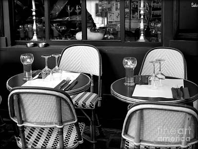 Photograph - Paris Street Side Cafe by Tanya Searcy