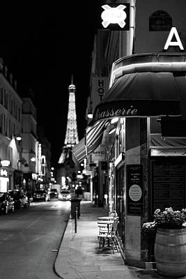 Photograph - Paris Streets By Night by Melanie Alexandra Price