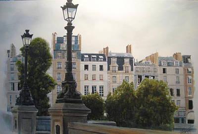 Painting - Paris Stroll by Victoria Heryet
