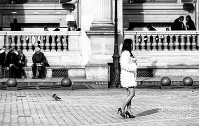 Photograph - Paris Style Outside The Louvre by John Rizzuto
