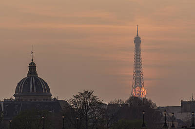 Paris Sunset II Art Print