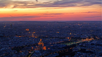 Sunset Digital Art - Paris by Super Lovely