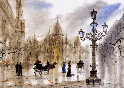 Cities Painting - Paris by Svetlana and Sabir Gadghievs