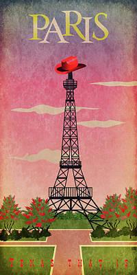 Paris, Texas Art Print