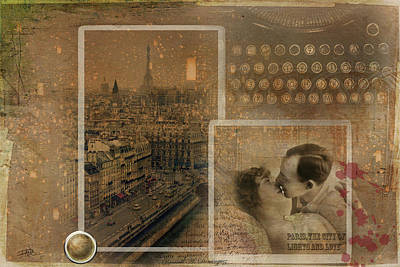 Digital Art - Paris, The City Of Lights And Love by Ricardo Dominguez