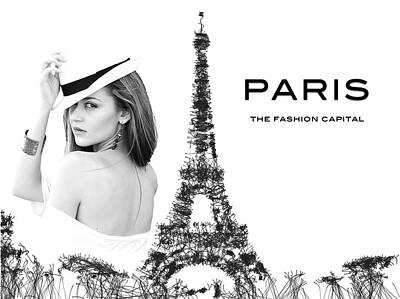 Digital Art - Paris The Fashion Capital by ISAW Company