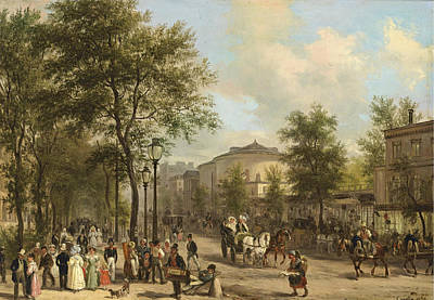 Paris. The Grands Boulevards Art Print by Giuseppe Canella