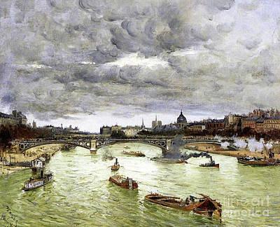 Paris, The Seine And Alexander IIi's Bridge, 1896 Art Print