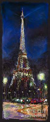 Pastels Painting - Paris Tour Eiffel by Yuriy  Shevchuk