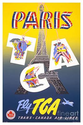 Paris Travel Poster Art Print by Pd