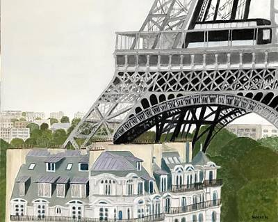 Paris Skyline Royalty-Free and Rights-Managed Images - Paris Treasure by Leslie Dannenberg