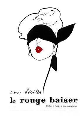 Paris Vintage Fashion Art Print by Mindy Sommers