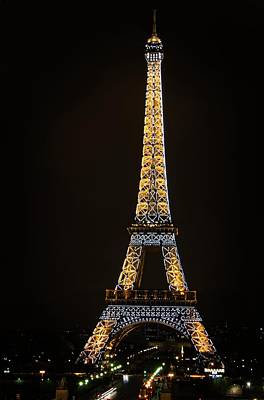 Photograph - Paris Visit At Night by Miguel Winterpacht