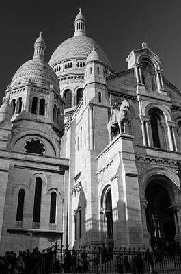 Photograph - Paris Visit To Sacre Coeur Cathedral by Miguel Winterpacht