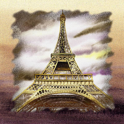 Painting - Paris Wind by Irina Sztukowski