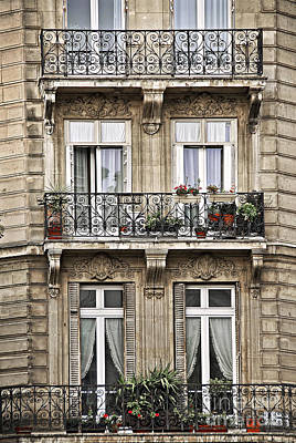 Geraniums Photograph - Paris Windows by Elena Elisseeva
