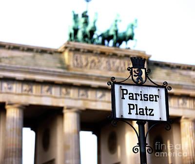 Photograph - Pariser Platz by John Rizzuto
