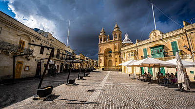 Marsaxlokk Photograph - Parish Church - Marsaxlokk, Malta - Travel, Landscape Photography by Giuseppe Milo