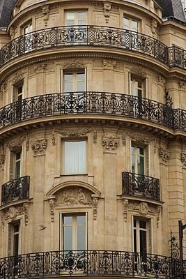 Photograph - Parisian Building Facades - 1  by Hany J