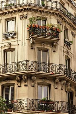 Photograph - Parisian Building Facades - 2 by Hany J