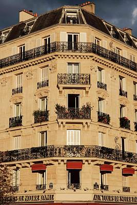 Photograph - Parisian Building Facades - 4 by Hany J