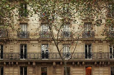 Photograph - Parisian Building Facades - 5 by Hany J